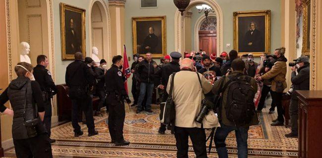 معترضان به نتایج انتخابات آمریکا وارد ساختمان کنگره شدند